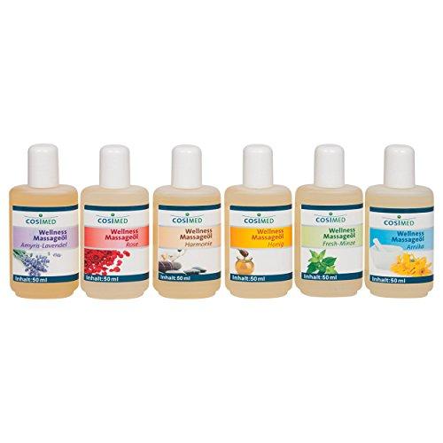 Probierset Wellness-Massageöl, Massage Öl, Physiotherapie 6 Flaschen à 50 ml - 2