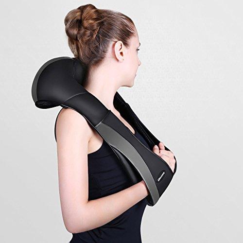 Massagegerät mit Wärmefunktion für Schulter Nacken Rücken MARNUR Nackenmassagegerät Shiatsu Elektrisch Massager mit 3 Einstellbaren Geschwindigkeiten Muskel Schmerzlinderung zu Hause Büro und Auto - 2
