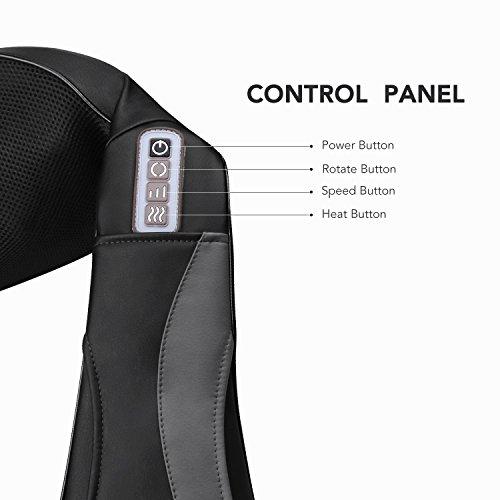 Massagegerät mit Wärmefunktion für Schulter Nacken Rücken MARNUR Nackenmassagegerät Shiatsu Elektrisch Massager mit 3 Einstellbaren Geschwindigkeiten Muskel Schmerzlinderung zu Hause Büro und Auto - 5