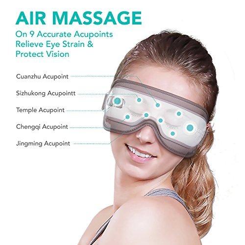 Naipo Augen Massagegerät Elektrisch mit wiederaufladbar Wärmefunktion für Schönheit Entspannung - 3