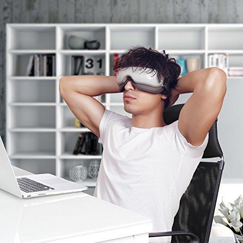 Naipo Augen Massagegerät Elektrisch mit wiederaufladbar Wärmefunktion für Schönheit Entspannung - 4