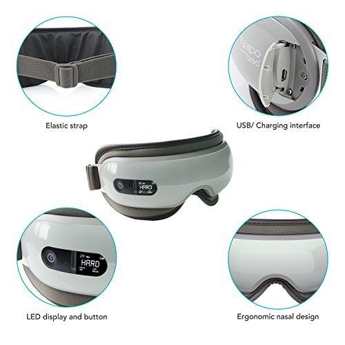 Naipo Augen Massagegerät Elektrisch mit wiederaufladbar Wärmefunktion für Schönheit Entspannung - 5