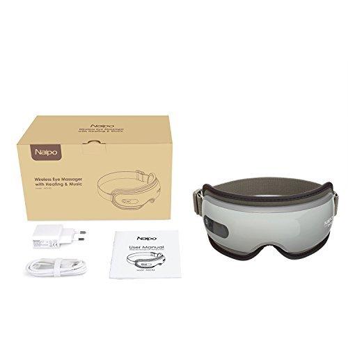 Naipo Augen Massagegerät Elektrisch mit wiederaufladbar Wärmefunktion für Schönheit Entspannung - 7