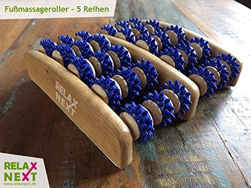 Fussmassageroller aus Holz - Reflexzonen Fussmassagegerät - RELAX NEXT, Zweifuß Holz Massage-Roller - auch als Geschenk - 2
