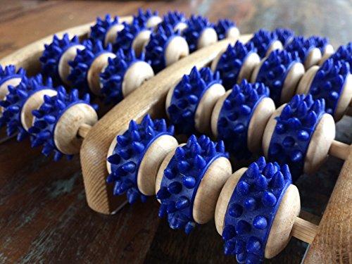 Fussmassageroller aus Holz - Reflexzonen Fussmassagegerät - RELAX NEXT, Zweifuß Holz Massage-Roller - auch als Geschenk - 3