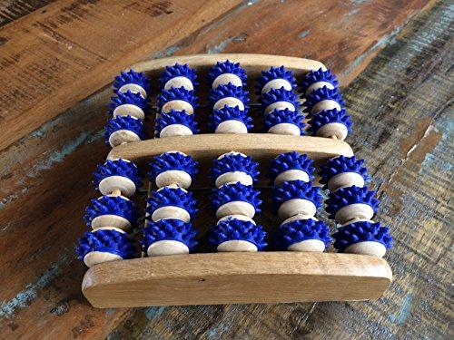 Fussmassageroller aus Holz - Reflexzonen Fussmassagegerät - RELAX NEXT, Zweifuß Holz Massage-Roller - auch als Geschenk - 4