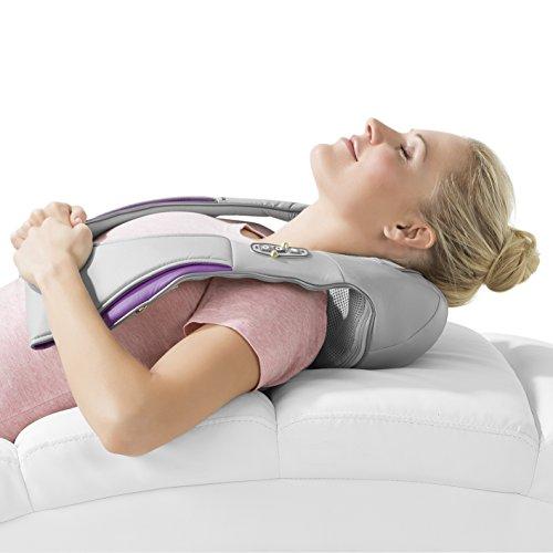 VITALmaxx Schulter Massagegerät | Elektrische Nacken Massage | Shiatsu Wärme Therapie | Nacken Schulter Rücken Lenden | 3D-Rotation Mit Wärme | Gegen Verspannungen | Wärmekissen U-Design - 6