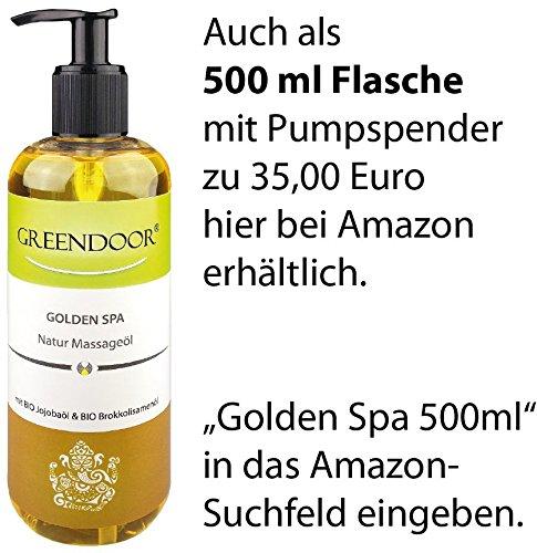 Greendoor Massageöl Golden SPA 100ml - natur-reines BIO Jojobaöl & Aprikosenkernöl, natürliche ätherische Öle mit entspannendem Duft - ebenso hervorragendes Körperöl - 4