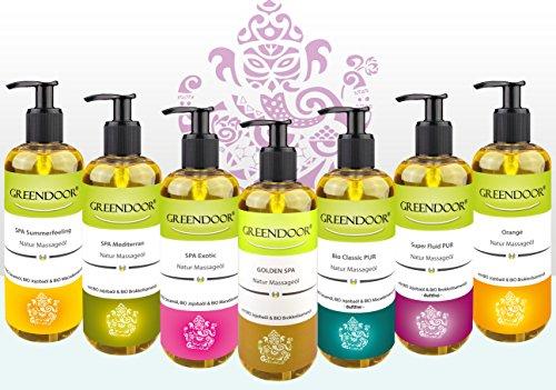 Greendoor Massageöl Golden SPA 100ml - natur-reines BIO Jojobaöl & Aprikosenkernöl, natürliche ätherische Öle mit entspannendem Duft - ebenso hervorragendes Körperöl - 6