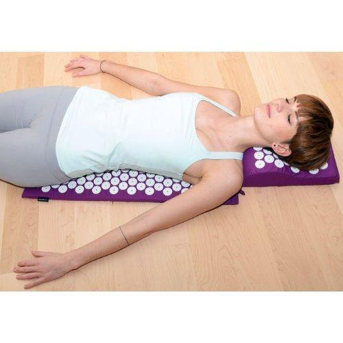VITAL Akupressurmatten-Set (aubergine): Akupressurmatte (74 x 44cm) & Akupressurkissen im günstigen Set, vitalisierende Matte für den Rücken und Kissen für den Nacken, wohltuende Entspannungsmatte & Kissen - 6