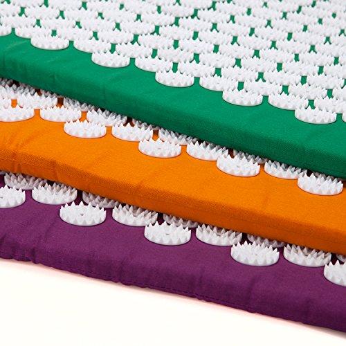 VITAL Akupressurmatten-Set (aubergine): Akupressurmatte (74 x 44cm) & Akupressurkissen im günstigen Set, vitalisierende Matte für den Rücken und Kissen für den Nacken, wohltuende Entspannungsmatte & Kissen - 8