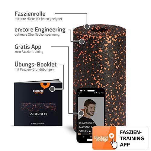 Blackroll Orange - die Original Faszien-Rolle inkl. Booklet, eBooks und App, EPP Massage-Rolle zum Faszien-Training - 2