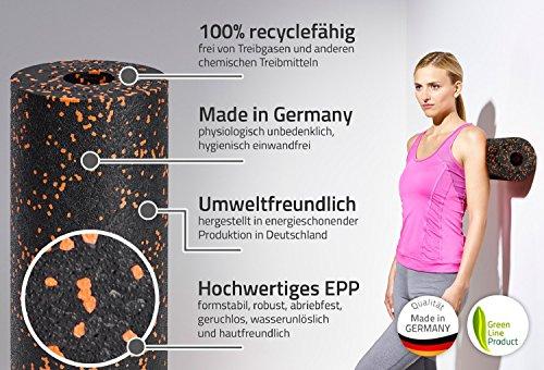 Blackroll Orange - die Original Faszien-Rolle inkl. Booklet, eBooks und App, EPP Massage-Rolle zum Faszien-Training - 3