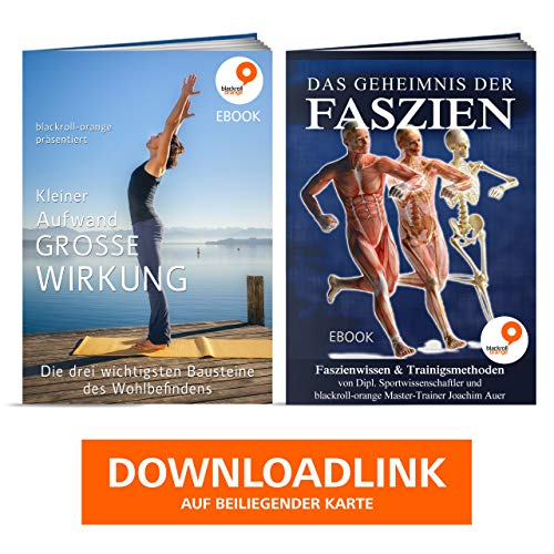 Blackroll Orange - die Original Faszien-Rolle inkl. Booklet, eBooks und App, EPP Massage-Rolle zum Faszien-Training - 5