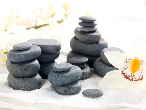 newgen medicals Hot Stone Massage: Professionelles Hot-Stone-Set: Wärmegerät & 23 Steine (heiße Steine) - 3