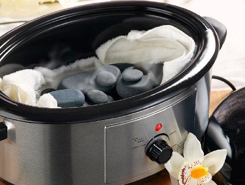 newgen medicals Hot Stone Massage: Professionelles Hot-Stone-Set: Wärmegerät & 23 Steine (heiße Steine) - 4