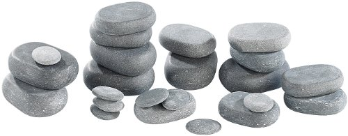 newgen medicals Hot Stone Massage: Professionelles Hot-Stone-Set: Wärmegerät & 23 Steine (heiße Steine) - 5