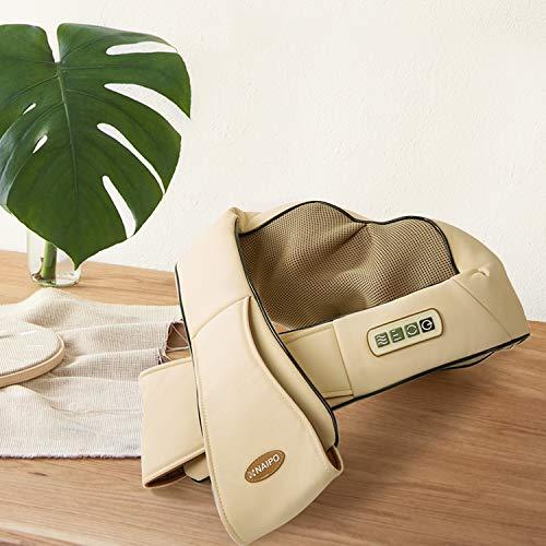 Naipo Schulter Massagegerät Elektrisch für Nacken Rücken Shiatsu Nackenmassagegerät mit Wärmefunktion 3D-Rotation Massage Einstellbaren Geschwindigkeiten - 5