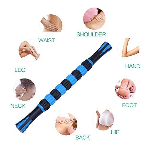 ORIA Muskel Massageroller, 18 cm Massagestick für Schulter & Arm & Rücken & Bein &Hals & fuß. Ungiftig und Geschmacklosen Massage Roller Stick zur Beseitigung Schmerzen, Schneller Muskeln Erholen. - 3