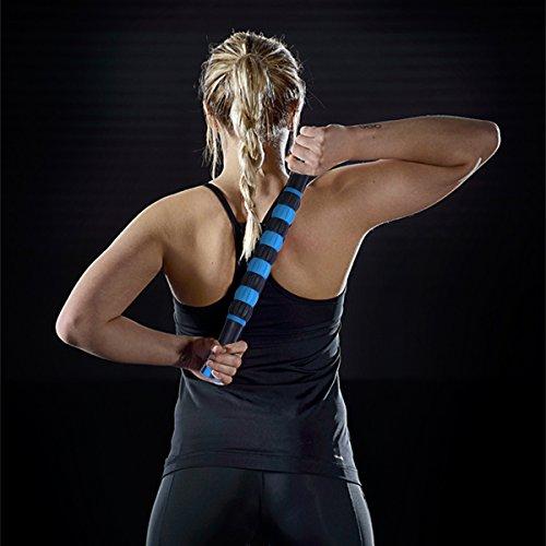 ORIA Muskel Massageroller, 18 cm Massagestick für Schulter & Arm & Rücken & Bein &Hals & fuß. Ungiftig und Geschmacklosen Massage Roller Stick zur Beseitigung Schmerzen, Schneller Muskeln Erholen. - 6